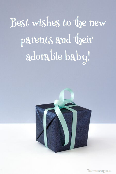 Newborn baby boy wishes to parents