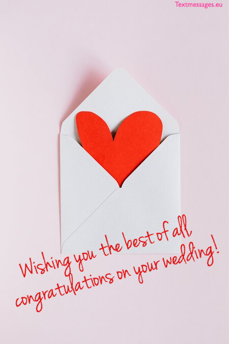 Romantic words for wedding card