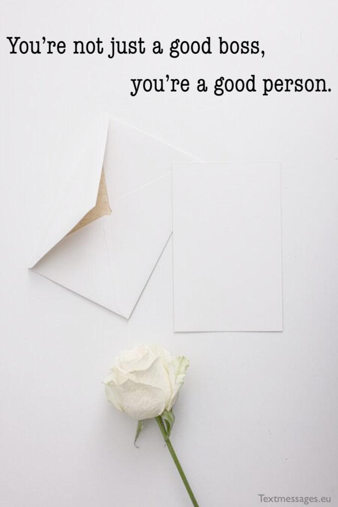 Appreciation words for boss