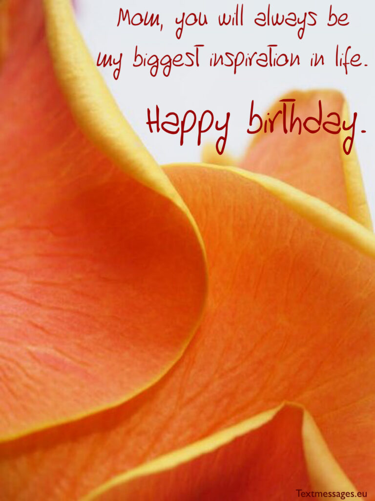 Happy birthday messages for mother