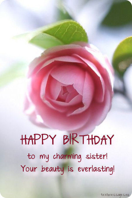 birthday greeting for sister