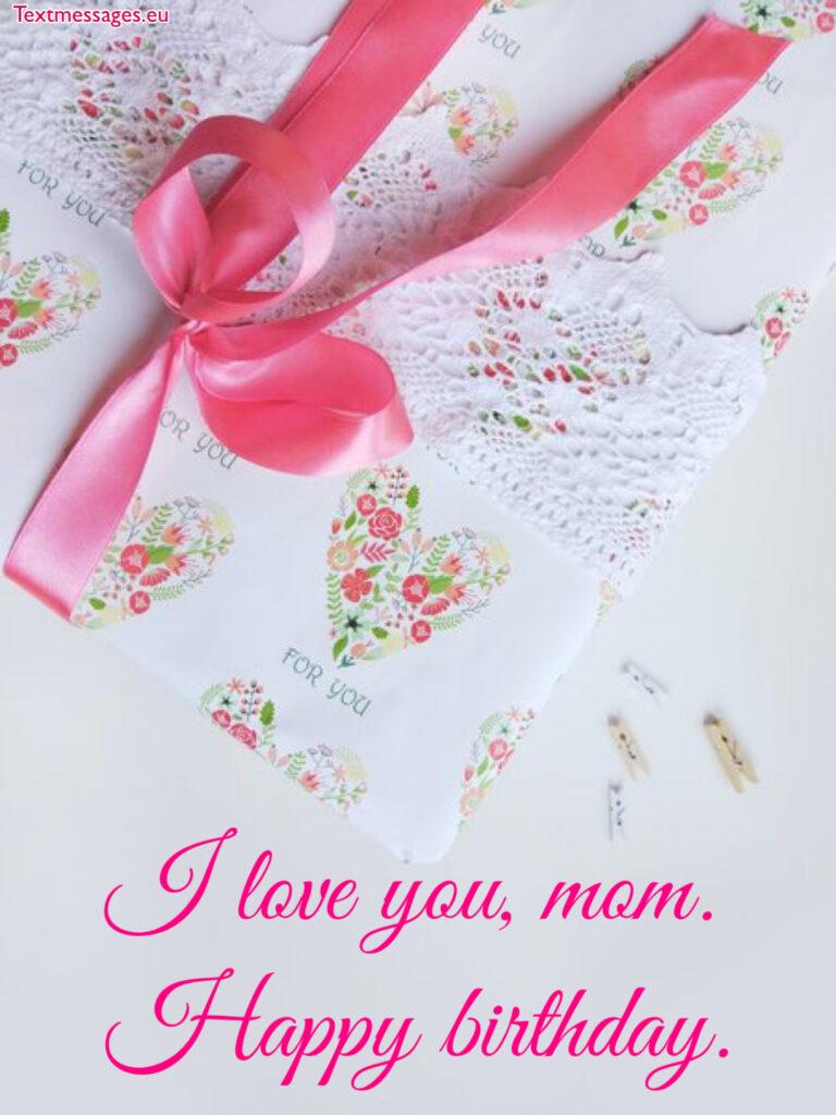 Birthday greetings for mom