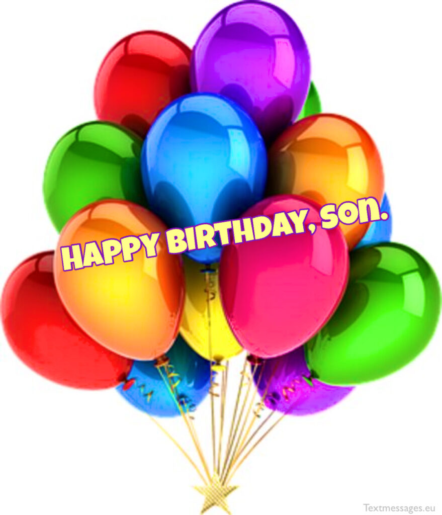 Nice birthday wishes for son