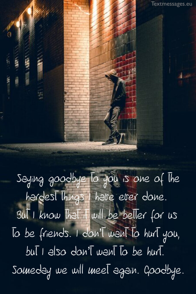 break up messages for her