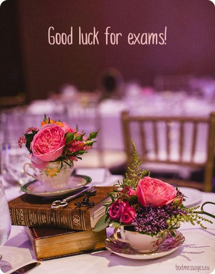 card good luck for exam