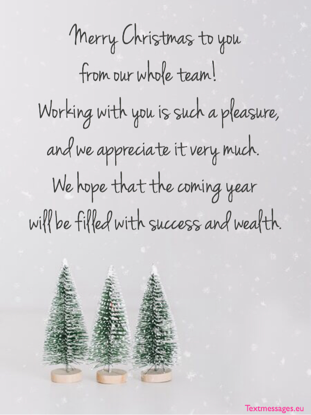 Christmas greetings for company clients