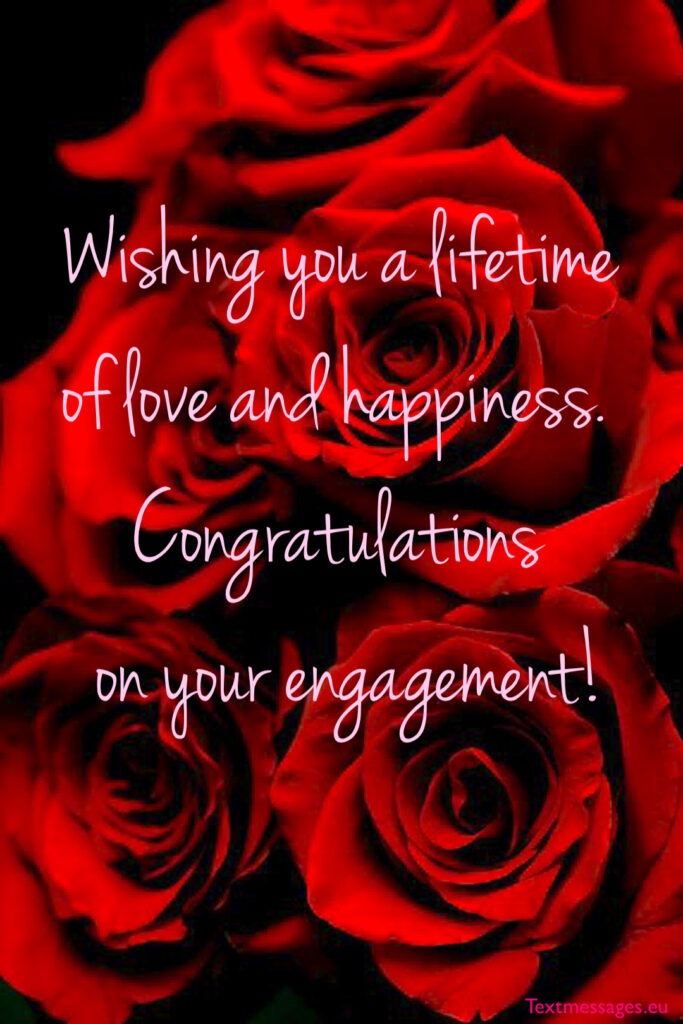 Congratulations on engagement for sister