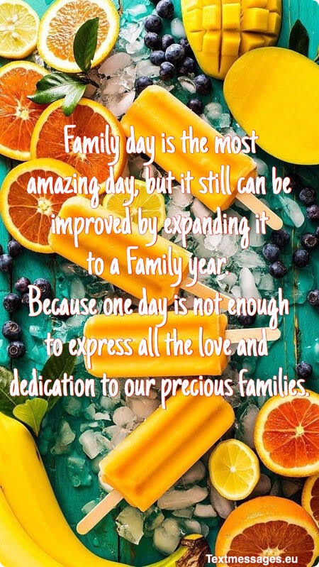 cute family day quotes