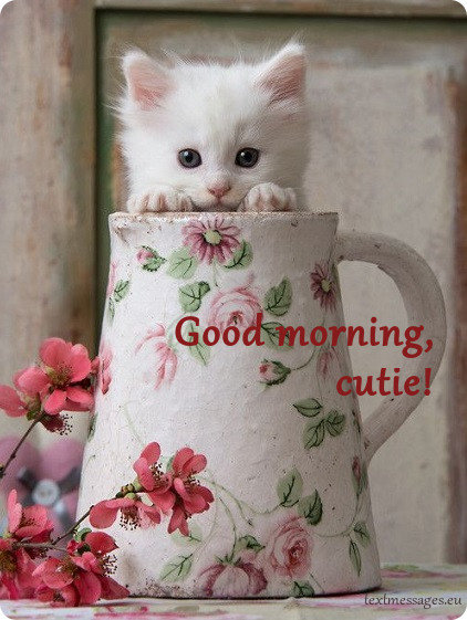 cute good morning card for her