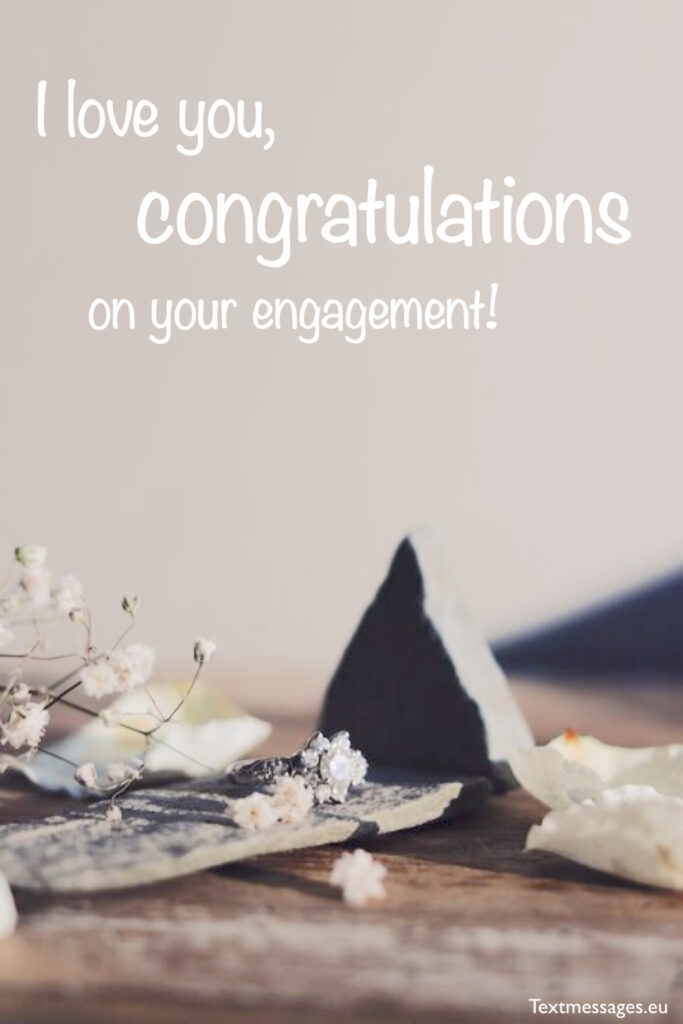Sweet engagement messages for sister