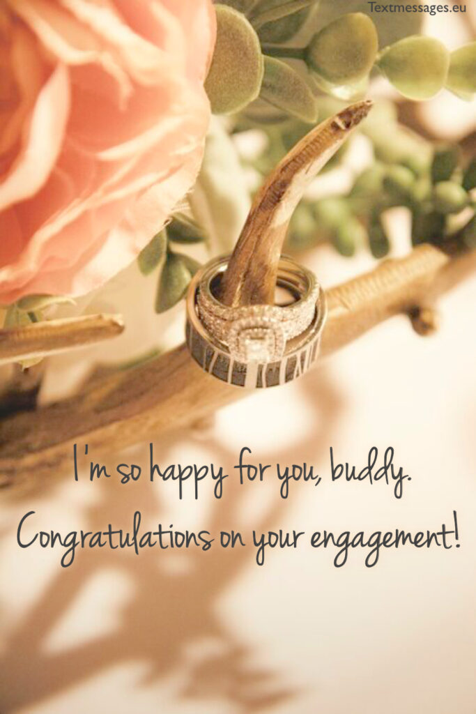 Happy engagement wishes for friend