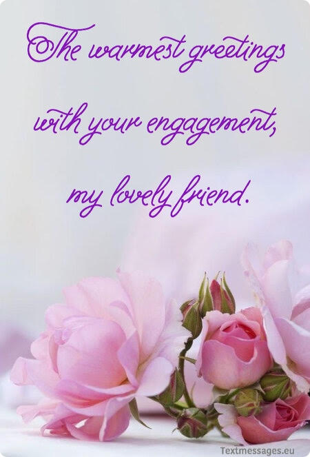 engagement messages for friend