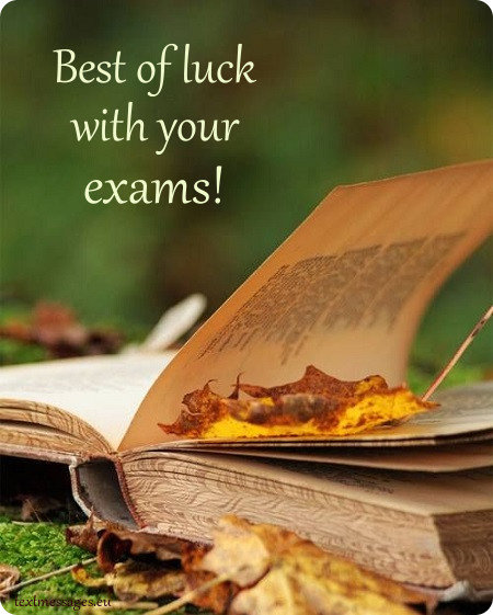 good luck for exam greeting card