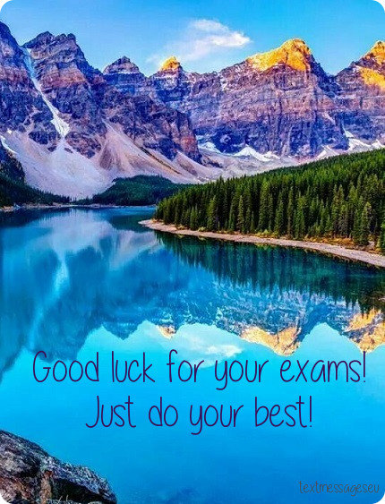 good luck for exam message