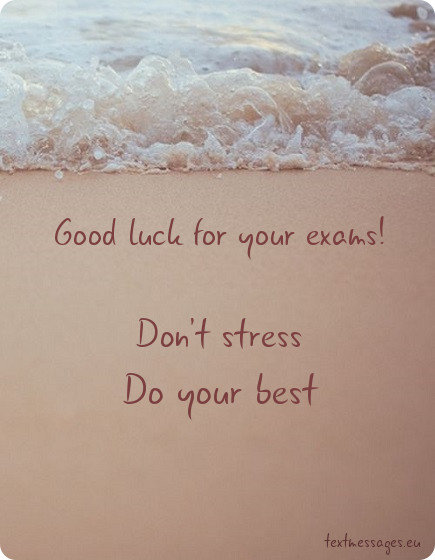 good luck for exams card