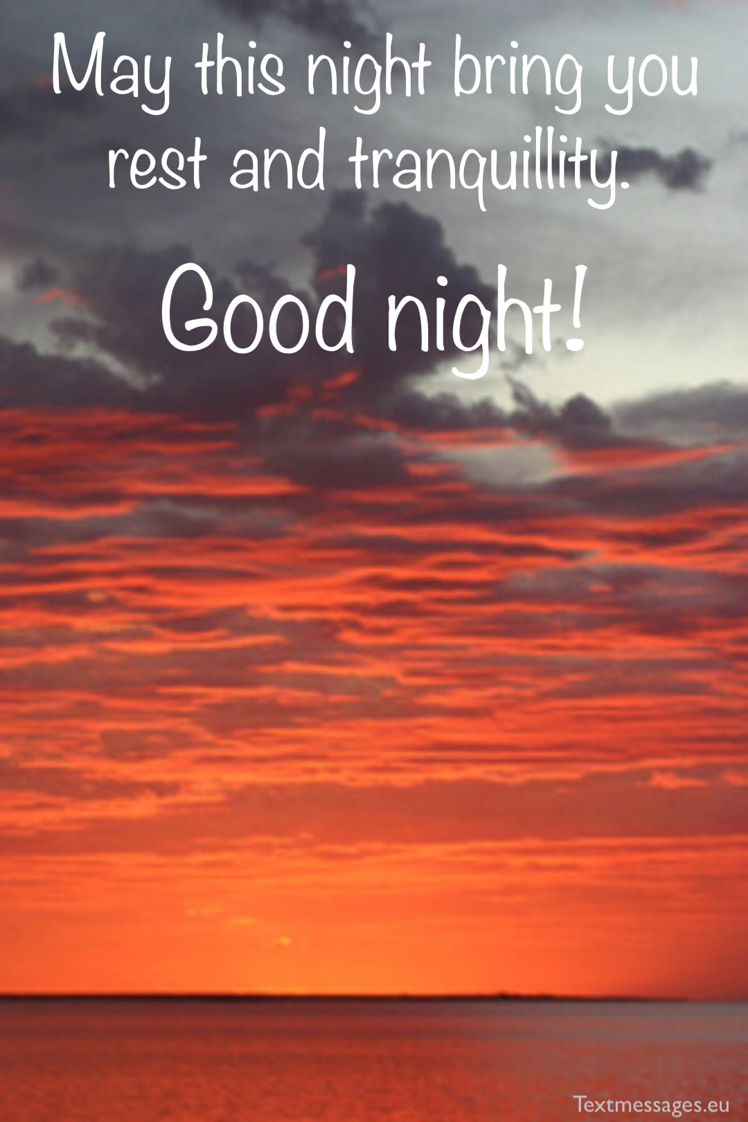 good night card for friends