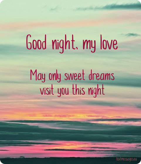 good night card for her