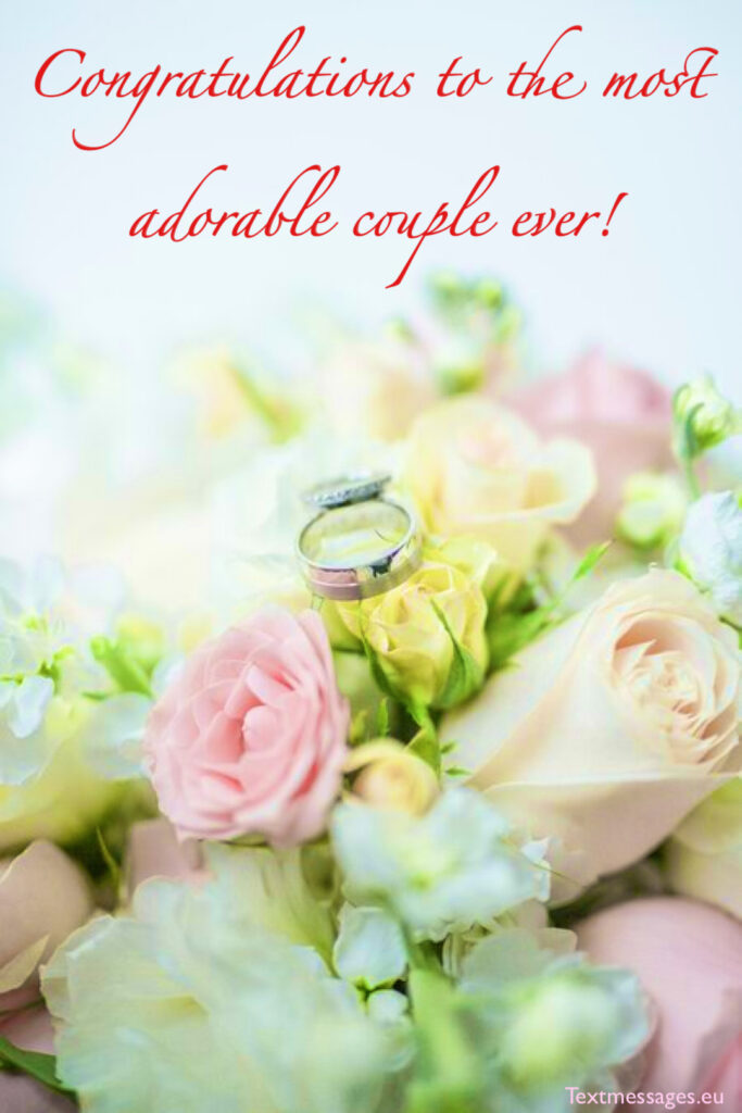 Greeting ideas for a wedding card