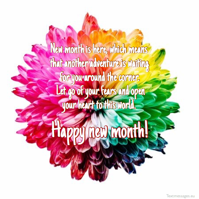 happy new month greetings