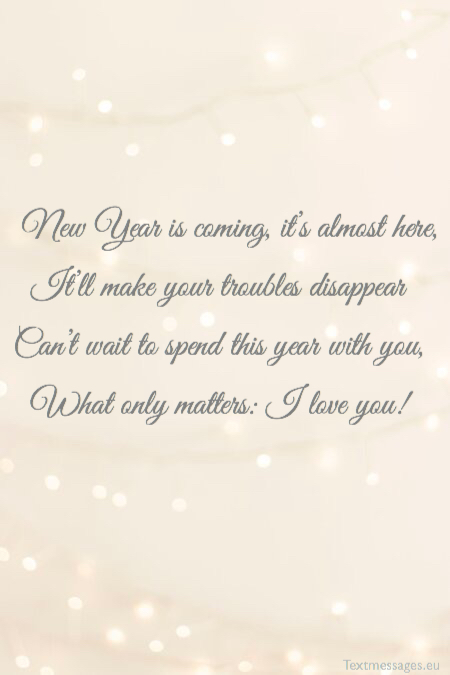 Happy New Year rhyming greetings
