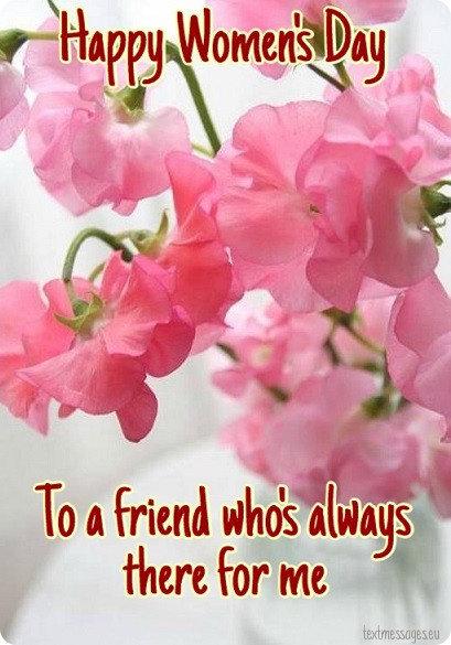 happy women's day card for friend