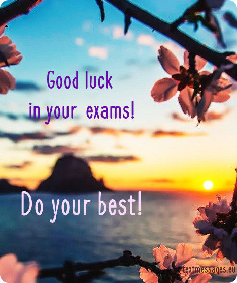 image good luck for exams