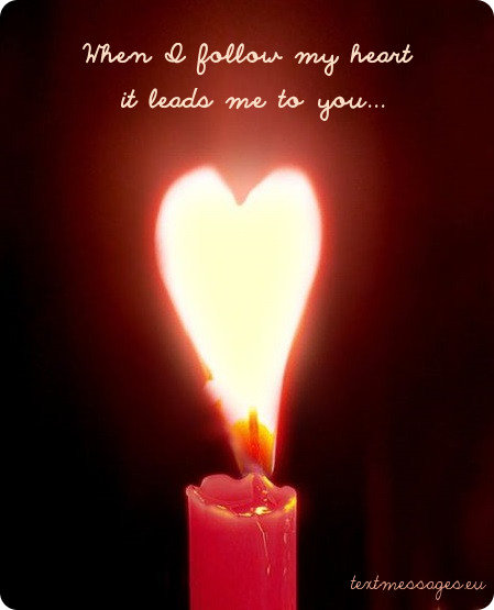 love card candle heart