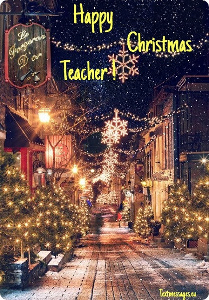merry christmas ecard for teacher
