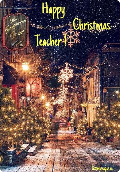 merry christmas ecard for teacher