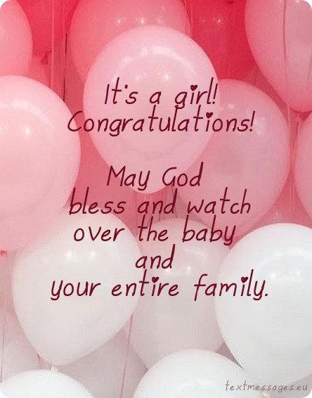 new baby girl greeting