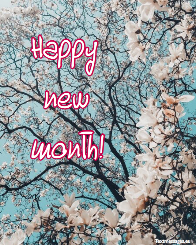 new month card