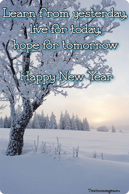 new year card with text
