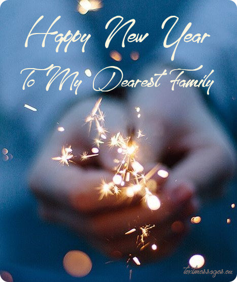 50 new year wishes for family new year cards for family with images new year greeting for family m4hsunfo Images