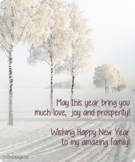 50 New Year Wishes For Family & New Year Cards For Family With Images