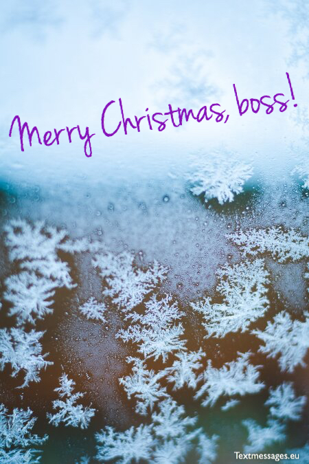 Nice Christmas messages for boss