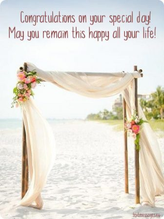 short wedding messages