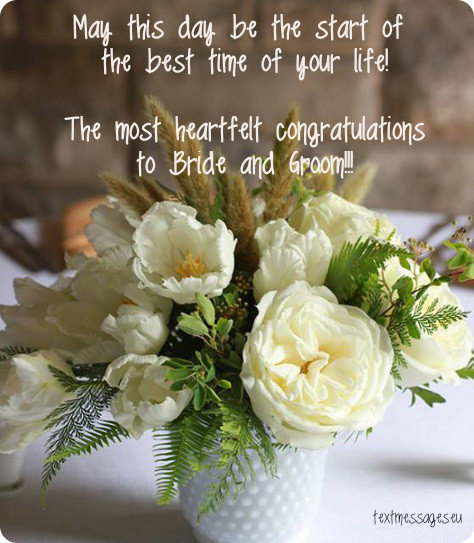 Short Wedding Wishes Quotes Messages With Images Interesting Wedding Day Quotes