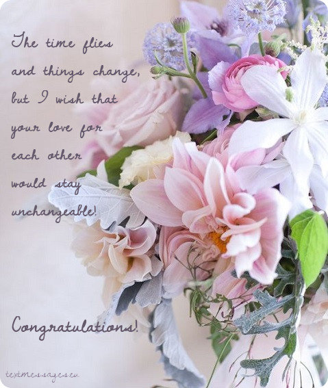 70 short wedding wishes quotes messages with images the time flies and things change but i wish that your love for each other would stay unchangeable congratulations m4hsunfo