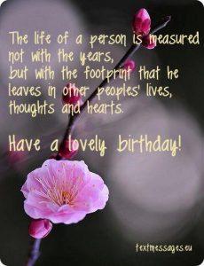 inspirational birthday wish