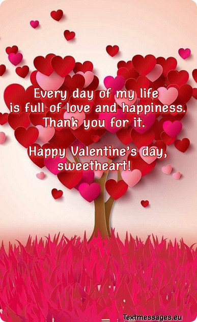 50 Cute Valentine's Day Messages For Her (Girlfriend Or Wife) With