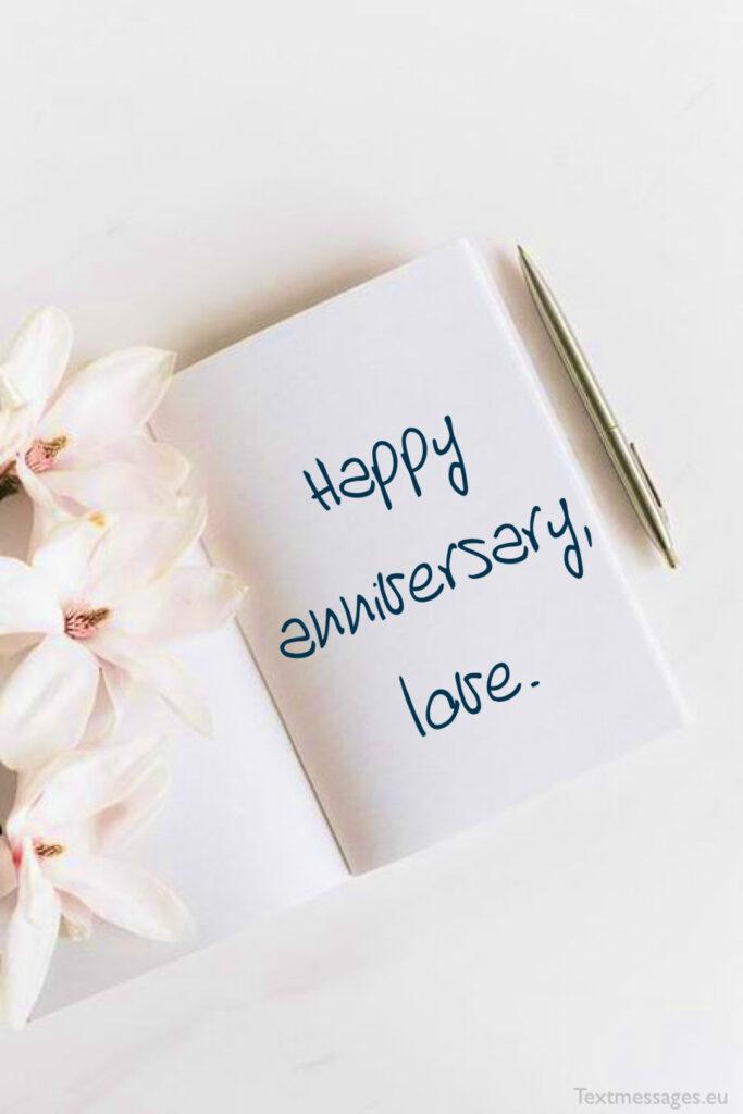 Happy wedding anniversary, hubby