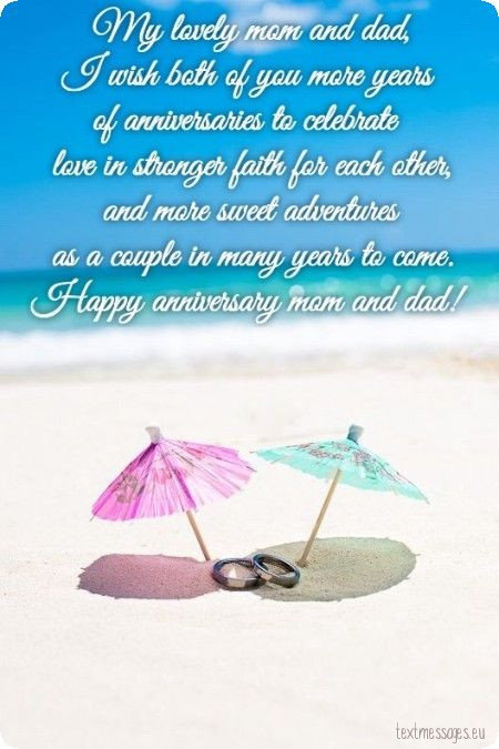 wedding anniversary for parents ecard
