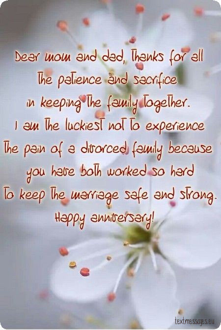 wedding anniversary for parents image