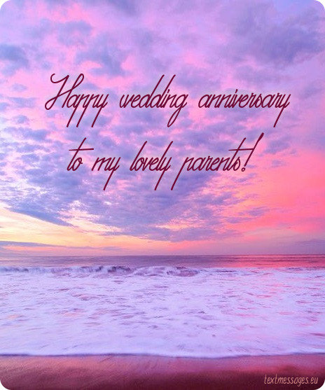 wedding anniversary wishes for parents