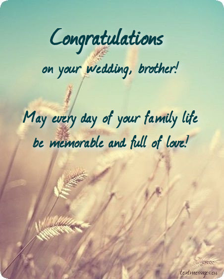 50 Wedding Wishes For Brother | Textmessages eu