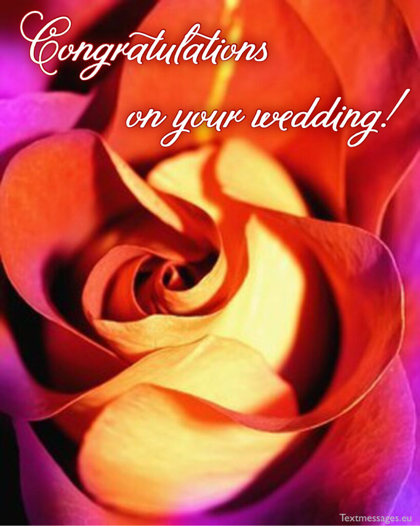 Greetings for wedding couple